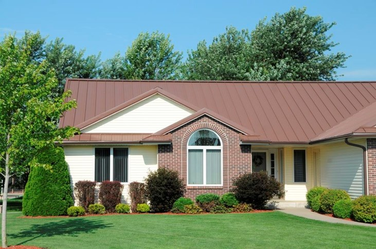 Residential Metal Roofing with Striations