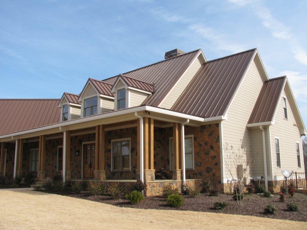 Standing Seam Metal Roof on Home