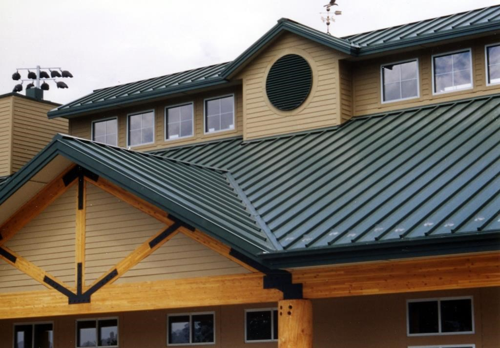 Standing Seam Metal Roofing Panels on House