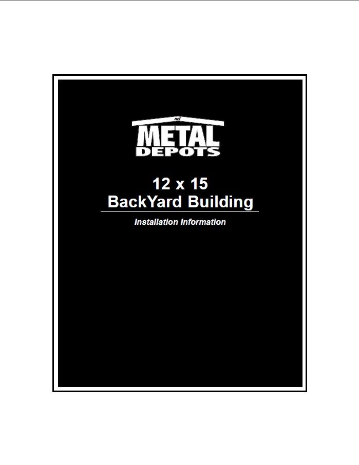 12x15 BackYard Building Manual
